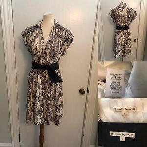 Nanette Lepore silk sashed shirt dress size 8